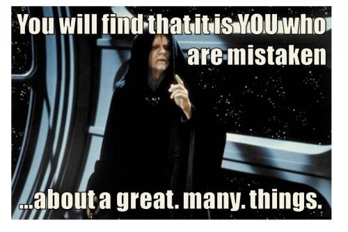 emperor mistaken