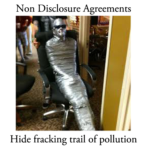 Will the Hallowich fracking non-disclosure duck tape come undone?
