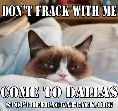 Grumpy Cat Wants You to Come to Dallas and Stop the Frack Attack