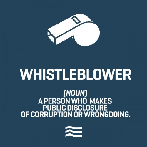 the definition of whistleblowing Whistle-blowing definition: whistle-blowing is the act of telling the authorities or the public that the organization | meaning, pronunciation, translations and examples.