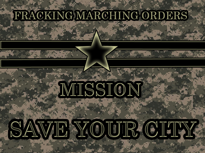 Fracking Marching Orders