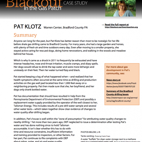 Blackout Case Study 3 - Pat Klotz