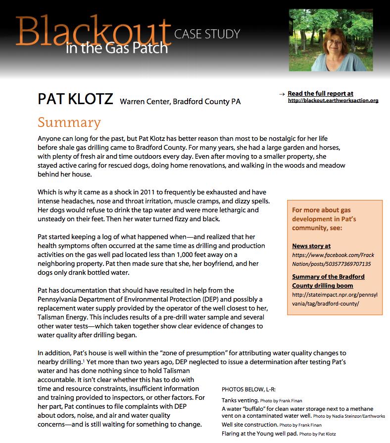 Blackout Case Study 3 – Pat Klotz