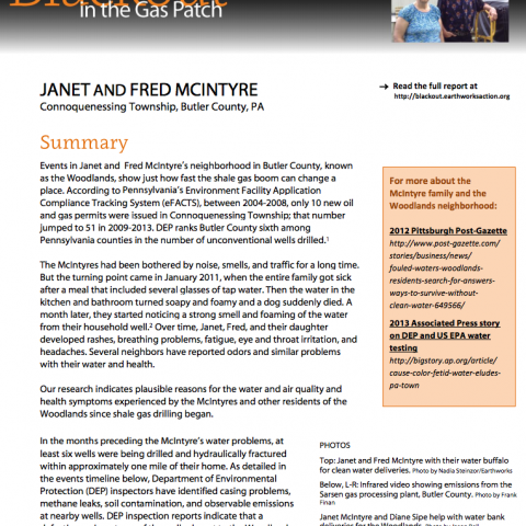 Blackout Case Study 2 - Janet and Fred McIntyre