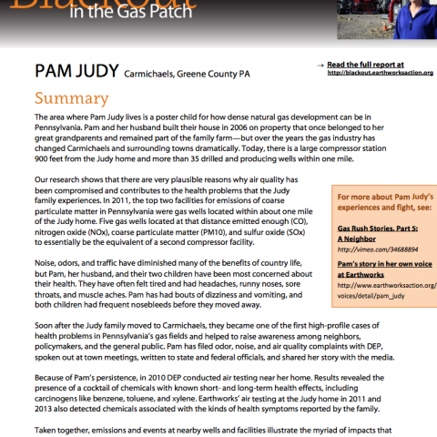 Blackout Case Study 1 - Pam Judy