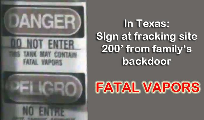 Fracking fatal vapors